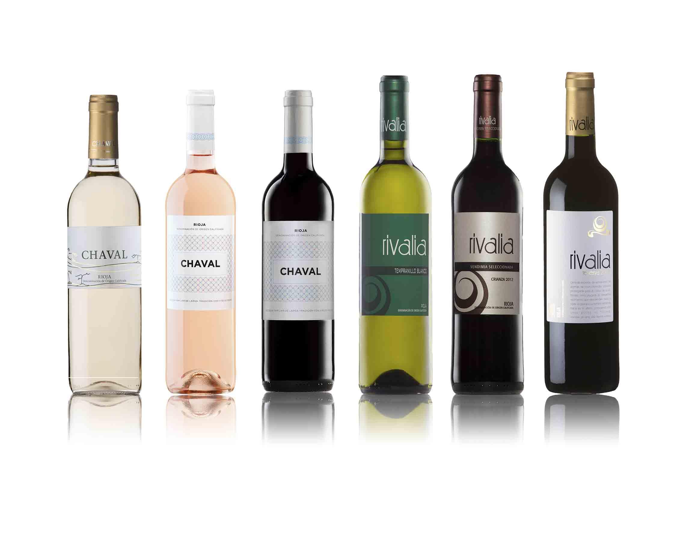 botellas vino rivalia
